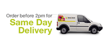 Order before 2pm for same day flower delivery